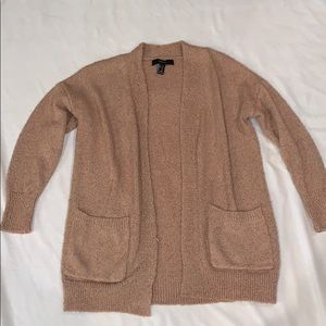Pink/brown cardigan from Forever 21